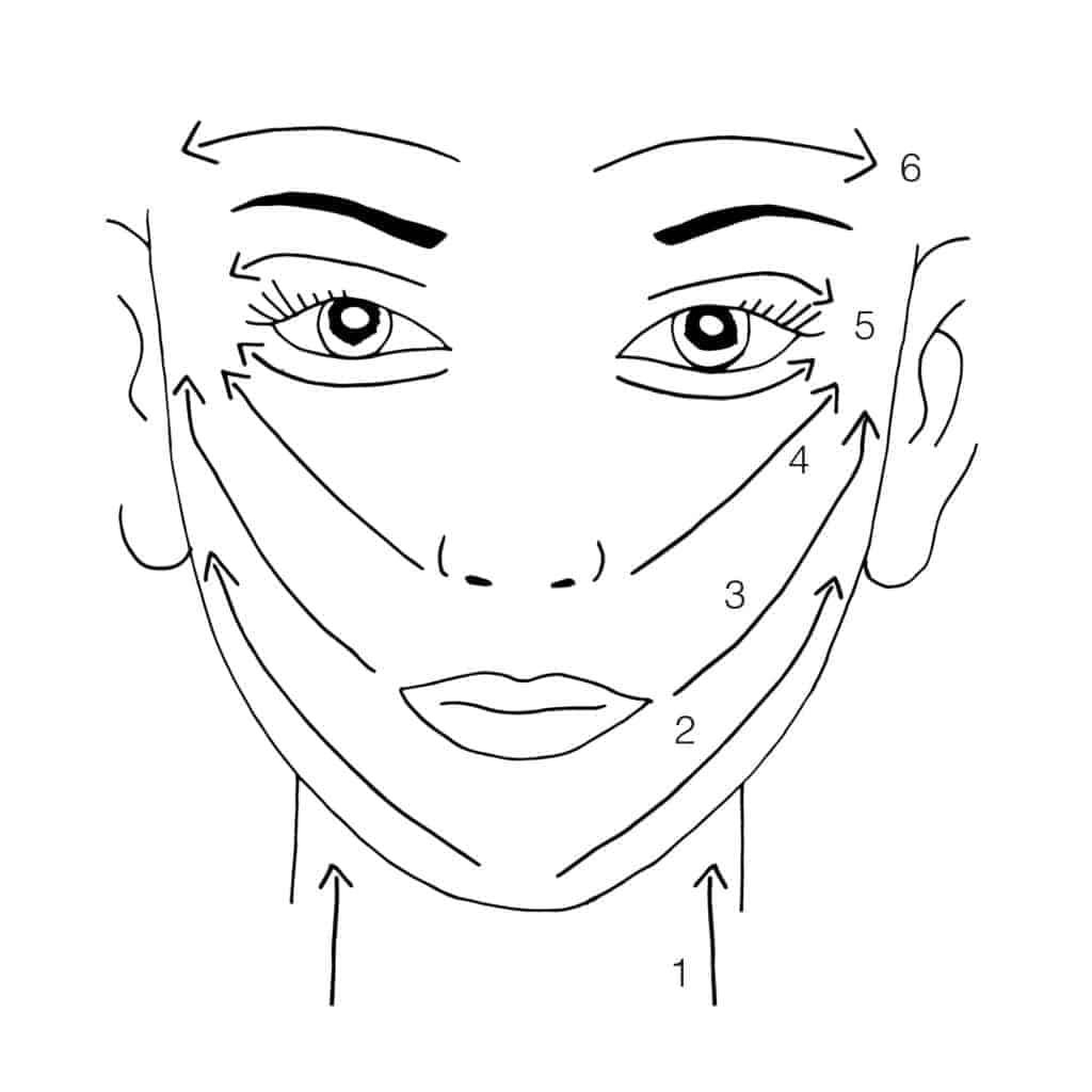 gua sha face map stroke directions