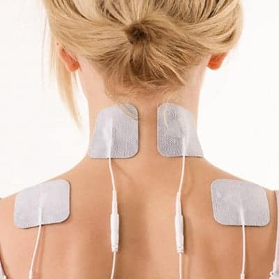 tens unit on neck