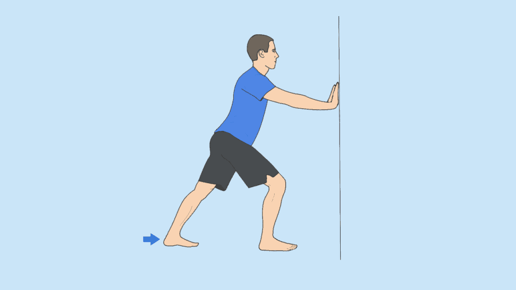 calf stretching exercise