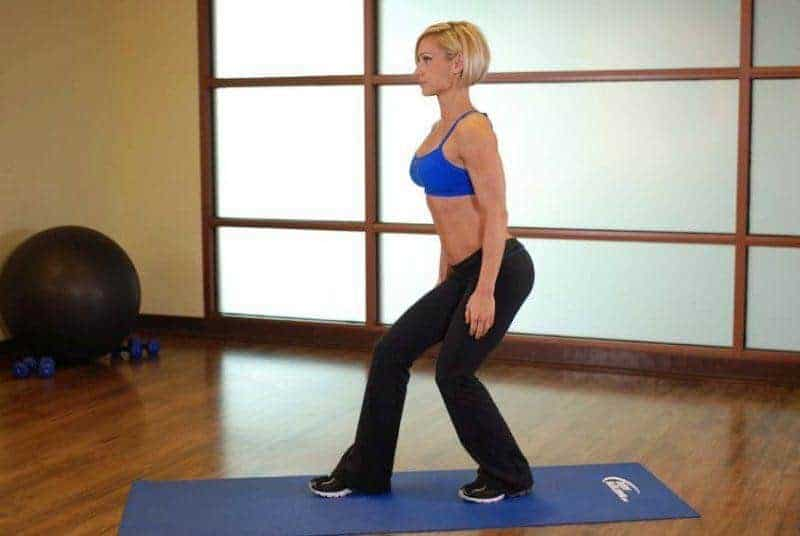 standing soleus stretch
